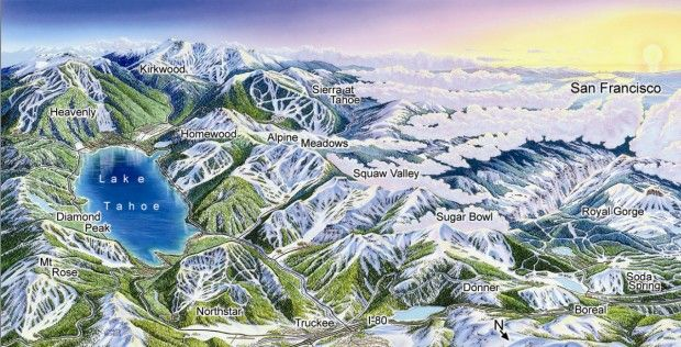 Lake Tahoe Ski Resorts Map | Tahoe Maps in 2019 | Tahoe ski ... on lake tahoe sierra resort, lake tahoe tourist map, christmas valley lake tahoe map, lake tahoe national forest map, california ski areas map, lake tahoe mountain map, squaw valley resort map, lake tahoe casinos, lake tahoe granlibakken resort, lake tahoe skiing, lake tahoe mapguide, hyatt regency lake tahoe resort map, lake tahoe tee shirt, lake tahoe snow, lake tahoe airport map, lake tahoe points of interest map, lake tahoe winter map, ski bc map, northstar resort tahoe map, lake tahoe golf course map,