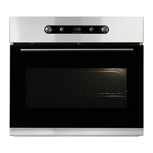 Nutid covection wall oven by Whirlpool for Ikea.   Do we buy an Ikea appliance? It's more attractive than just about anything else on the market and at least half the price.