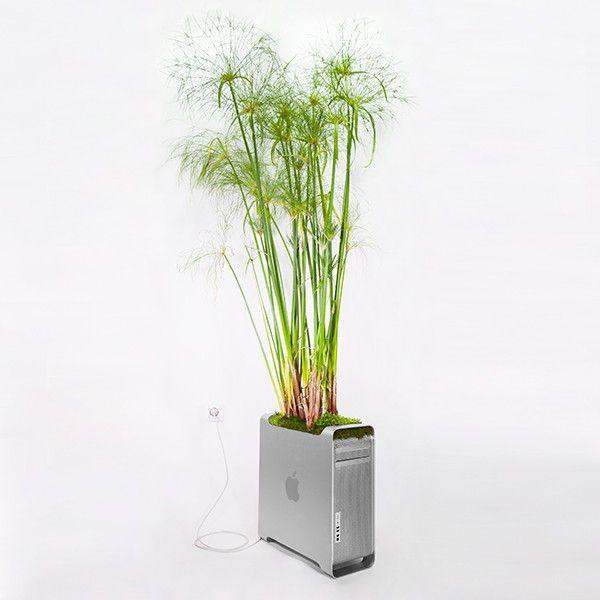"""""""Plant your Mac! Monsieur Plant  unité centrale pot de fleur"""
