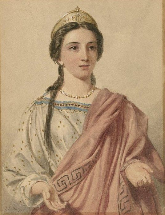 Shakespeare's heroines are created by JW Wright, J. Hayter and AL Egg. Brutus' wife Portia (Julius Caesar)