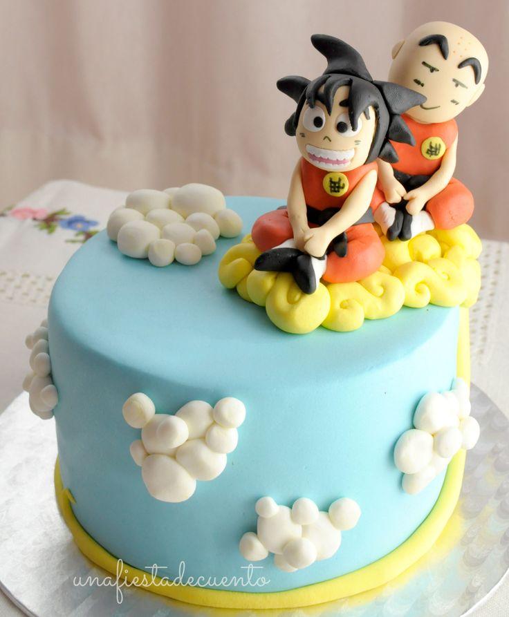 Dragon Ball Goku Krilin fondant cake
