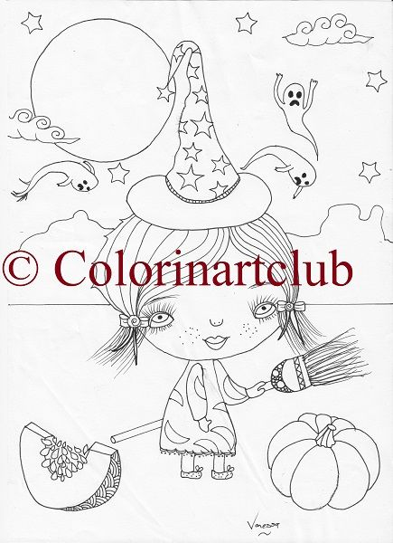 Happy Haloowee Colouring Book at R55/ $5. Ten designs https://www.colorinart.club/ #adultcolouring #linedrawing #liveincolour #colorinartclub