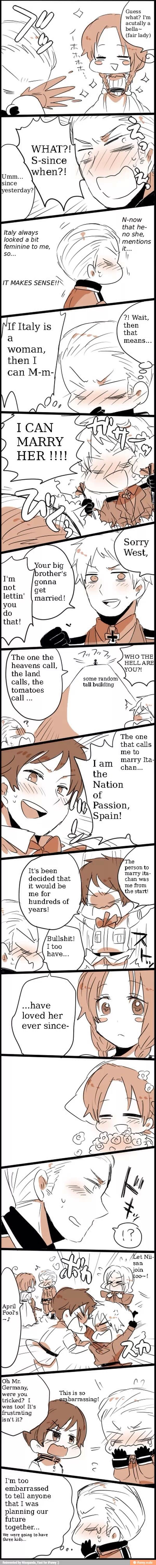 Dawww...It would have made so much more sense for poor Germany