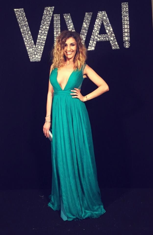 Charming CRISTALLINI full-length pure silk green evening dress! Gorgeous singer Alina Eremia was a ravishing appearance at Viva party, wearing an irresistible #CRISTALLINI evening gown, with breathtaking V neckline and stunning open back!  #cristallini #famous #singer #dresses #luxury #fashion #style #eveningstyle #eveningdresses #longdresses #party  #gowns #prom #promdresses #pageant #pageantgowns #silkgowns #eveningstyle #glamour #elegance #beauty #highfashion #romaniandesigner