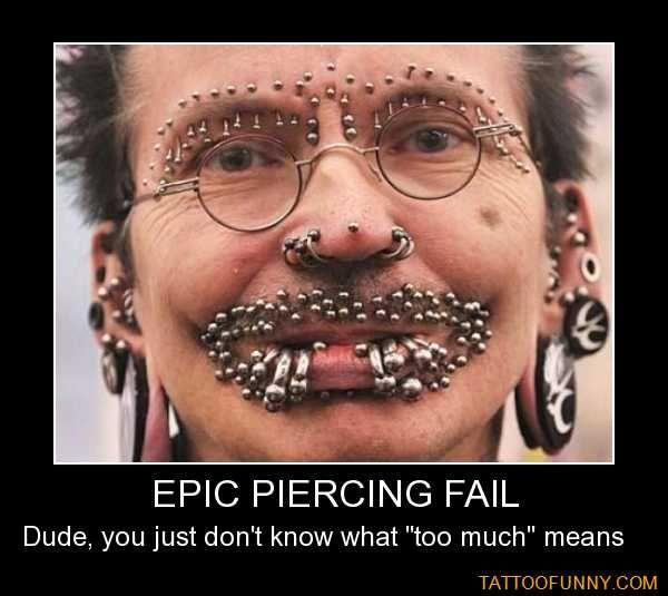 Funny tattoos epic piercing fail random pinterest for Funny tattoo memes