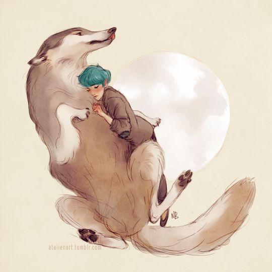 Remus (Moony) and Tonks by Natello's Art
