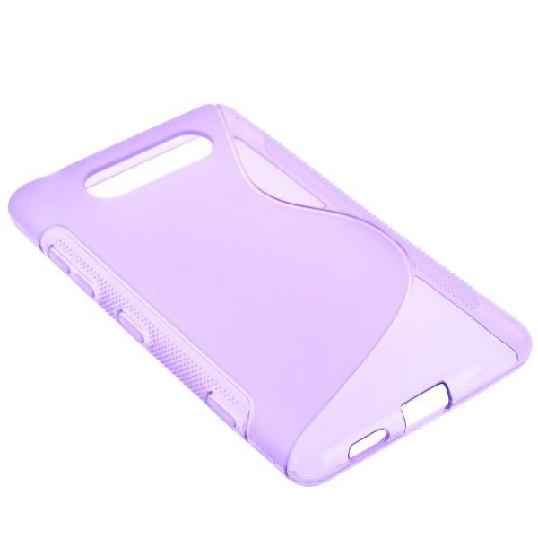 S-Line Transparent (Lilla) Nokia Lumia 820 Cover