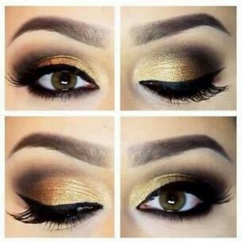 Stunning gold wedding makeup - My wedding ideas