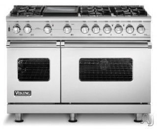 """Viking 48"""" Sealed Burner Pro Style Range with 6 Burners & Griddle - eclectic - gas ranges and electric ranges - other metro - by US Appliance"""