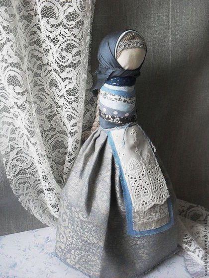 """Кукла - оберег """"На удачное замужество"""". - синий,на удачу,женский оберег"""