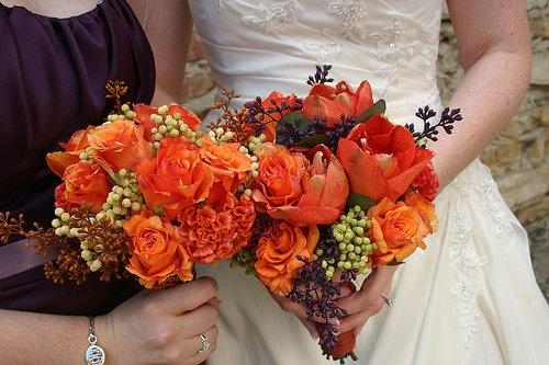 Flowers, Reception, Pink, Bouquet, Centerpiece, Orange, Decor, Purple, La partie events, Boutonniere, Bridal, Fall, Bridesmaid, Candle, Burnt, Dark, Colorful, Hidden chateau and gardens, Artichoke