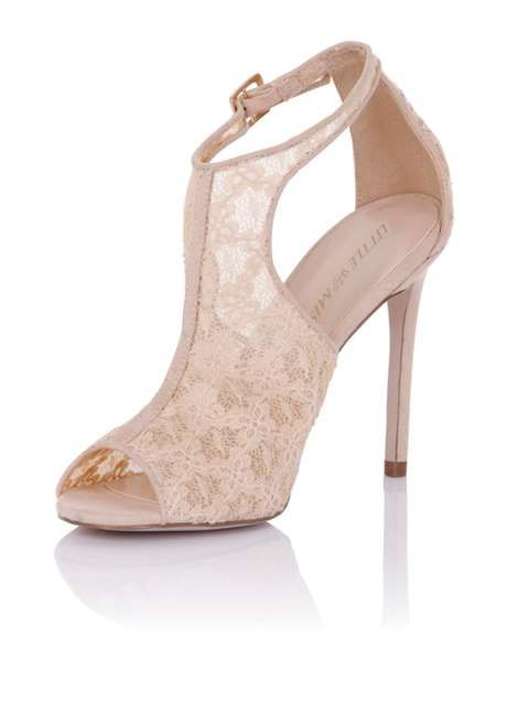 **Little Mistress Pewter Lace Cut Out Heels - View All Shoes & Boots - Shoes & Boots - Dorothy Perkins