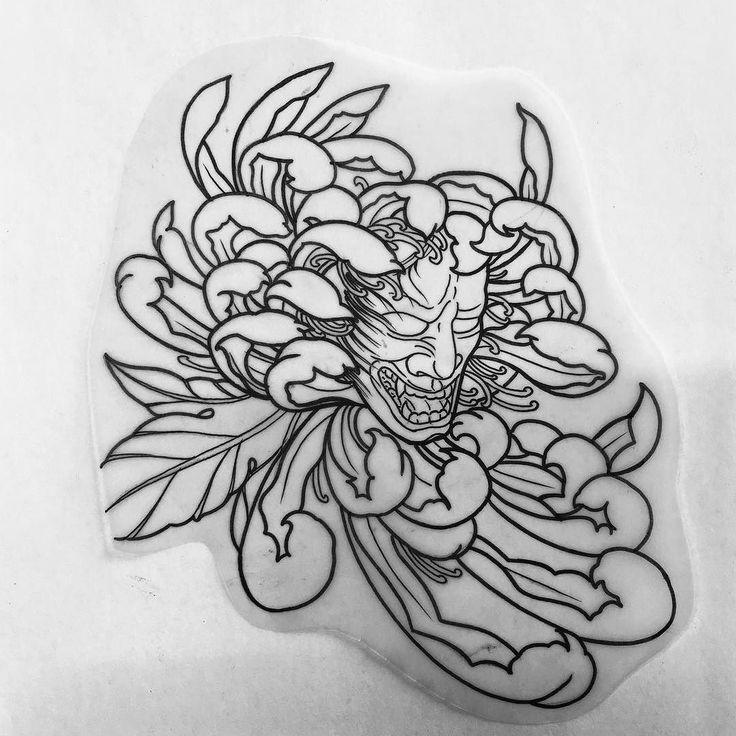 Tattoo Flash Line Drawing Converter : I like horimono japanesetattooart