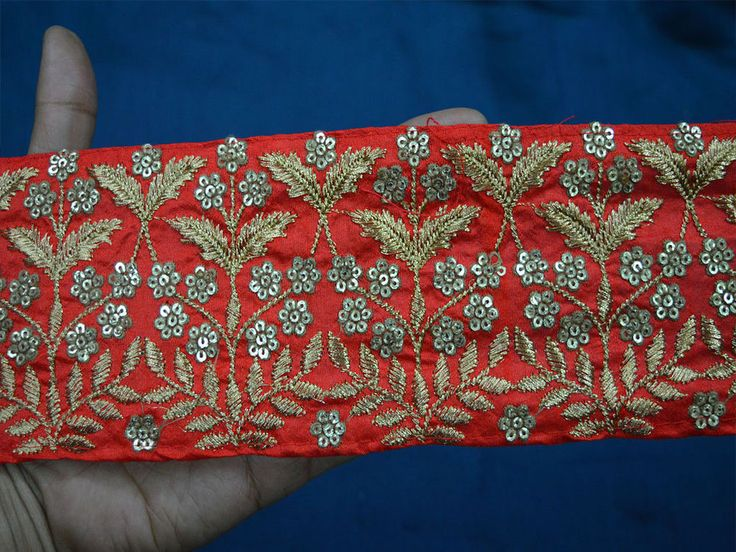 Indian Laces and Trims Embroidered Saree Border #Unbranded