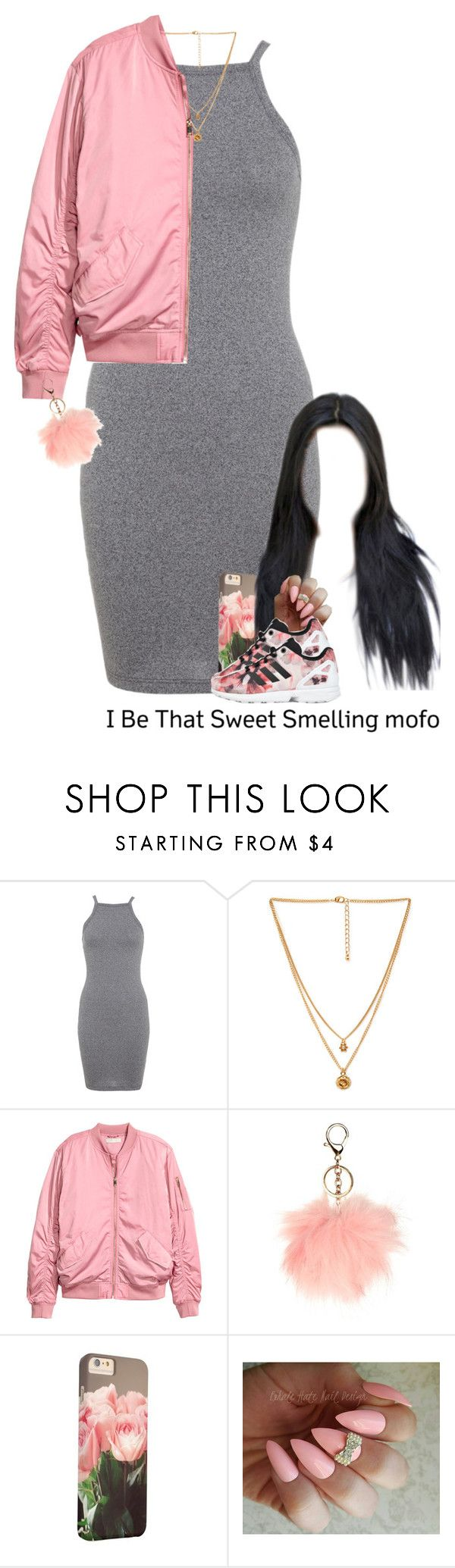 """9-21-16"" by asilversmile ❤ liked on Polyvore featuring Miss Selfridge, Forever 21, H&M and adidas Originals"