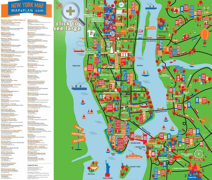 13 best images about maps of new york city and manhattan for Top 10 tourist attractions in nyc