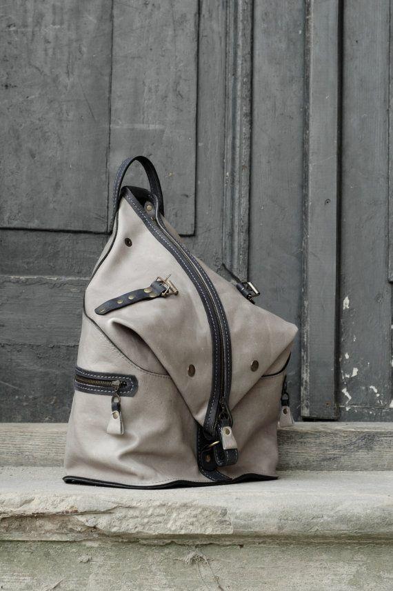 Neue handgemachte Leder-Rucksack / Tasche von ladybuq auf Etsy