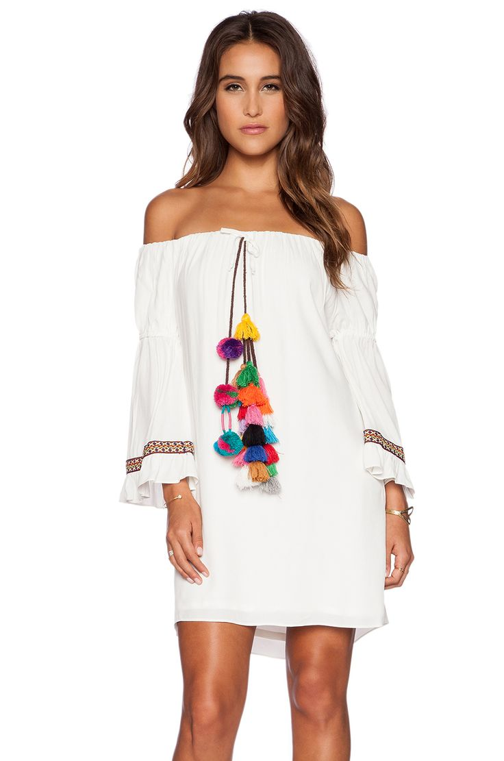 T-Bags LosAngeles Tulum Dress in Ivory | REVOLVE ...without the tassels