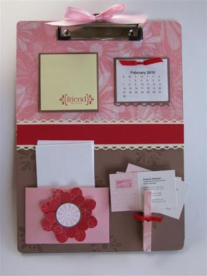 It's a blast from the past! I used to love making altered clipboards but I hadn't made one in quite awhile. At the request of many 0f my wonderful stamp club girls, I created this fun p…