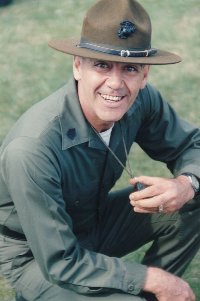 Former United States Marine Corps Staff Sergeant (honorarily promoted to Gunnery Sergeant) Ronald Lee Ermey. He is a Vietnam veteran, an actor, and a conservative Republican who supports Ted Cruz.