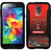 Texas Tech University Football Field design on a Black OtterBox Commuter Series Case for Samsung Galaxy S5 //  Description This Otterbox Commuter Series case is compatible with the Samsung Galaxy S5. This design is officially licensed artwork approved by