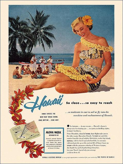 Hawaii Visitors Bureau Ad, c1955