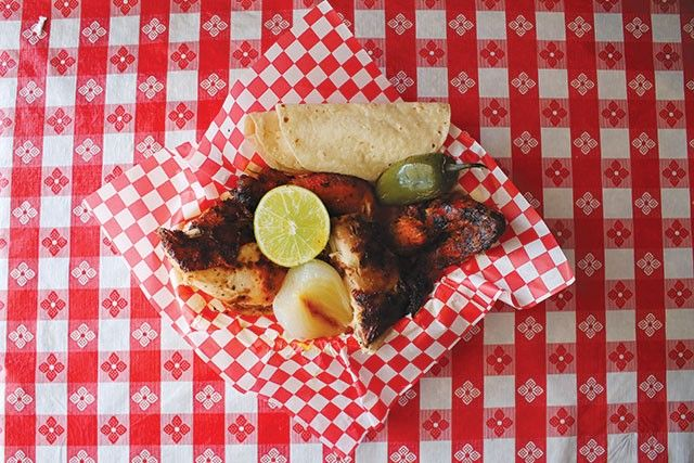 <b> Pollos Asados Los Norteños </b> <p><i>4642 Rigsby Ave., (210) 648-3303</i> <br>If your guest wants to get away from the Riverwalk, or if you're sick of paying for parking, take them to Pollos Asados Los Norteños, a bustling spot that delivers half and whole birds, roasted to perfection and paired with great sides. It's the puro San Antonio your visitors deserve to know. </br> <p>Photo via SA Current