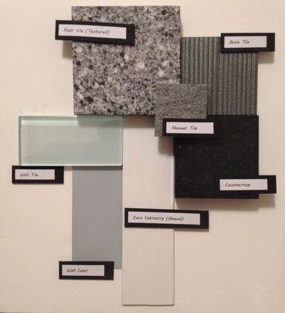 Sample Board Mood Inspiration Master Bathroom Designed By Amanda Nordstrom