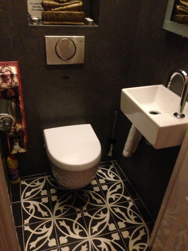 Spaanse Castelo patroon tegels vloer toilet gerealiseerd door MoreFloors