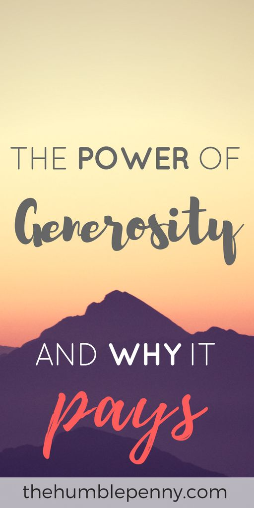 The Power of Generosity and Why It Pays. Generosity has been shown to be positively correlated with the 5 key measures of personal well-being. Read to find out why. #Generosity #Giving #Wellbeing #Joy #Happiness #Life #Reciprocity via @TheHumblePenny