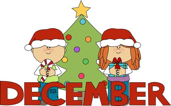 Clip Art for Each Month | Month of December Christmas Clip Art Image - the word December in ...