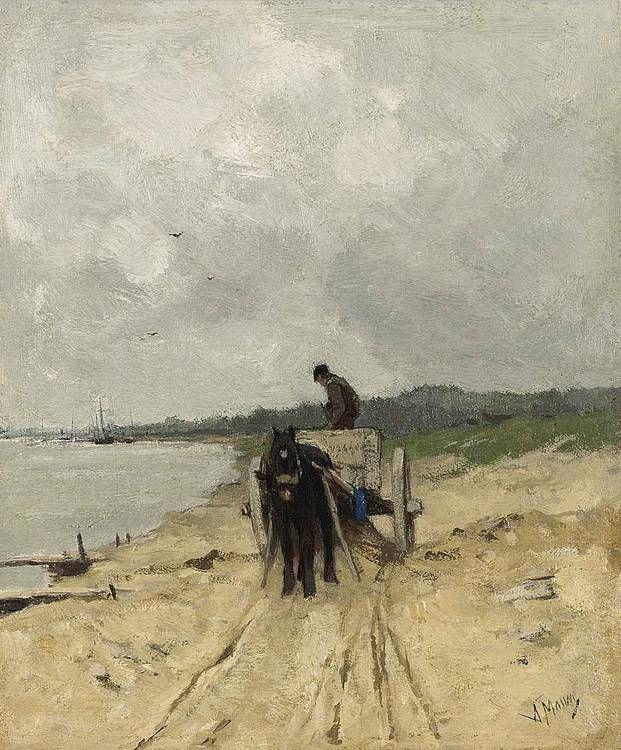 1838 – Anton #Mauve, Dutch painter (d. 1888) | Anton Mauve Biography, Works of #Art, Auction Results | Artfact