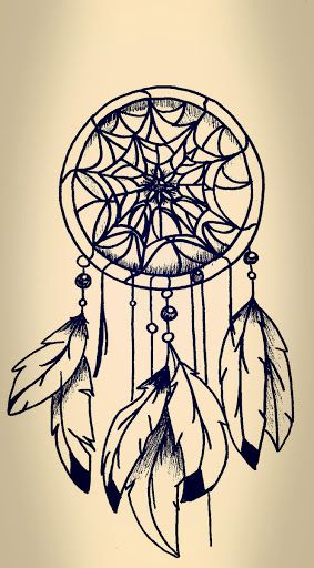 I love dreamcatchers. I like the ways you can draw them using different materials and colours.