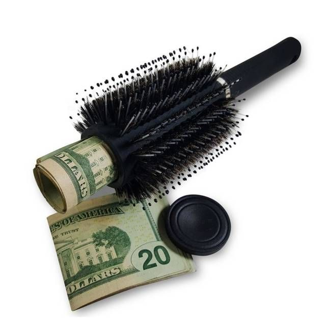 Hair Brush Diversion Safe Stash // 10 CREATIVE Secret Safe Box Designs That Will Hide Your Money Forever