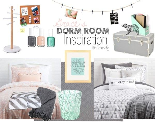 A pink, gray, and teal dorm room will definitely be the cutest on campus next fall. Come check out all of these awesome @dormify products and plan your dorm room makeover!