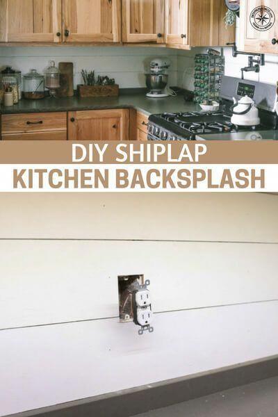 DIY Shiplap Kitchen Backsplash - A more practical use for ship lap