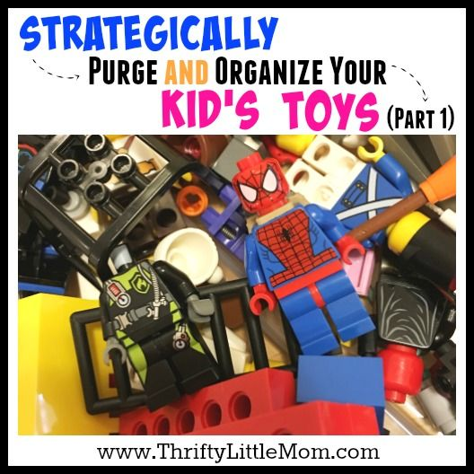 Are you drowning in kids toys? Need help? This is a simple to follow guide that helps you with strategically purging and organizing kid's toys can help.