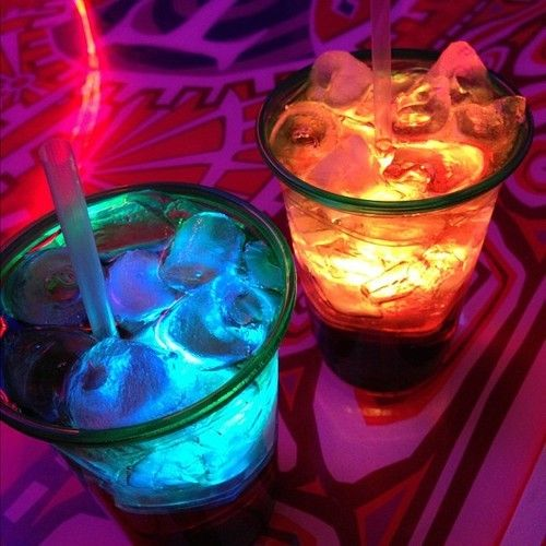 Neon colour drinks Pink & purple & blue Party Hard Wild child Free Spirit