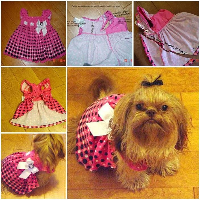 Diy Dog Dress From Baby Dress Lovepetsdiy Com Dogs Pinterest