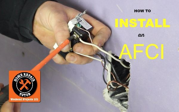 How Can You Stop Electrical Fires  Today We U0026 39 Re Gonna Show You How To Install An Afci Outlet