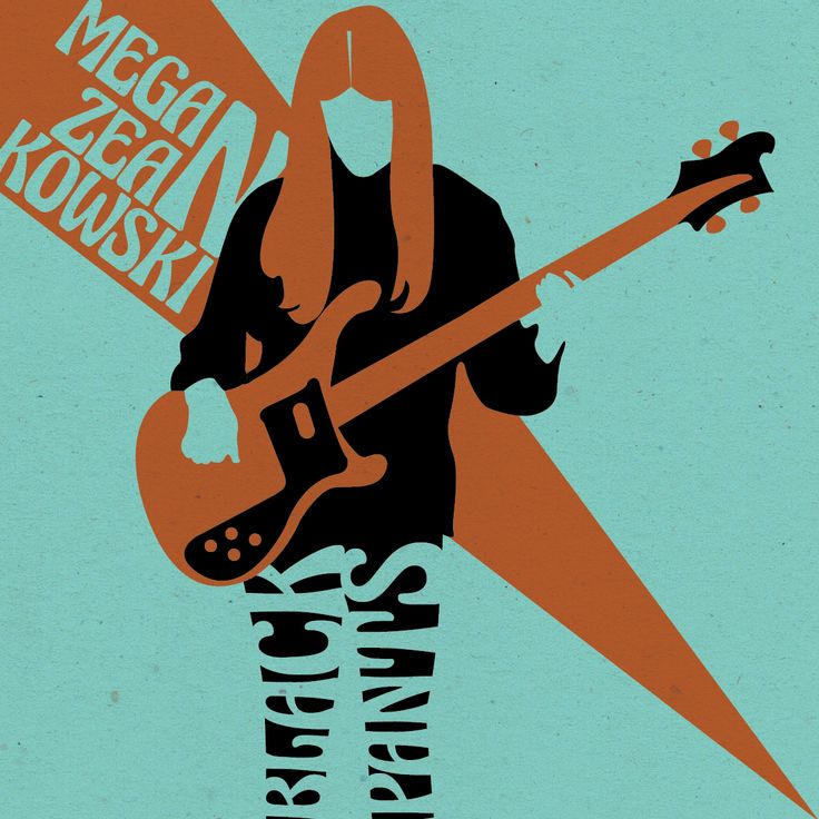 Megan Zeankowski from the Lemon Twigs || Designed by Nefeli Tsalta || #lemontwigs #thelemontwigs #music #indie #illustration #digitalillustration #minimalillustration #graphicdesign #aslongasweretogether #band #meganzeankowski #bass #rickenbacker #blackpants #dohollywood