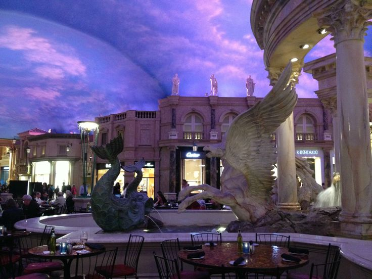 """Get your shop on at the Forum Shops inside Caesars Palace. The """"sky"""" ceiling changes colors as the day goes on and there are interactive shows at the fountains. Las Vegas - Reviews of Forum Shops at Caesars Palace - TripAdvisor"""