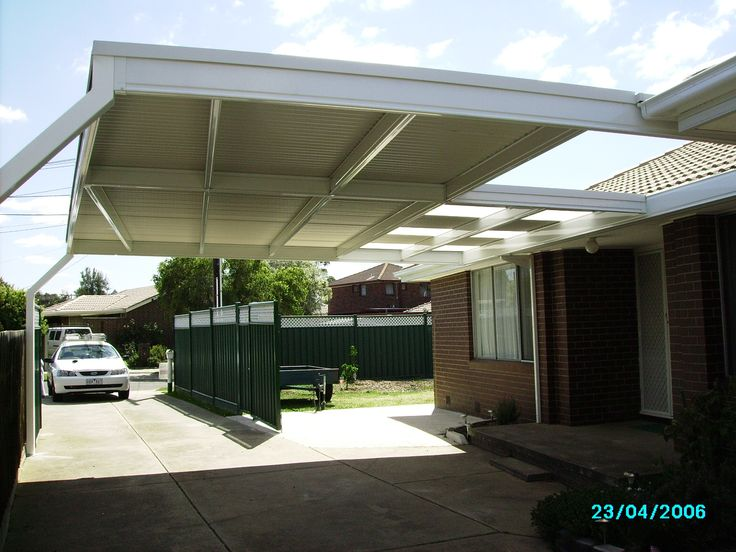 skillion roof carport | skillion root structure is a cost effective solution to extending ...