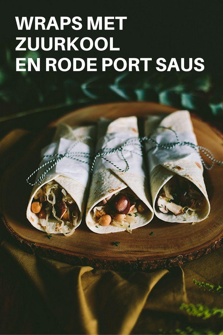Recept zuurkool: wraps met zuurkool en portsaus. Gezond en vegan eten met producten van de Aldi. Lees het recept op de blog. Foto door Aline Bouma.