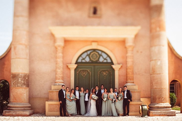 PHOTOGRAPHY Joel + Justyna Bedford; St. Tropez Wedding Marriage Villa Belrose; Elegant group photo of bridal party