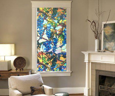 Amazon | 窓目隠し 窓ガラスフィルム ガラスシート ステンドグラス 風 窓フィルム 窓ステッカー (A) | DIY・工具