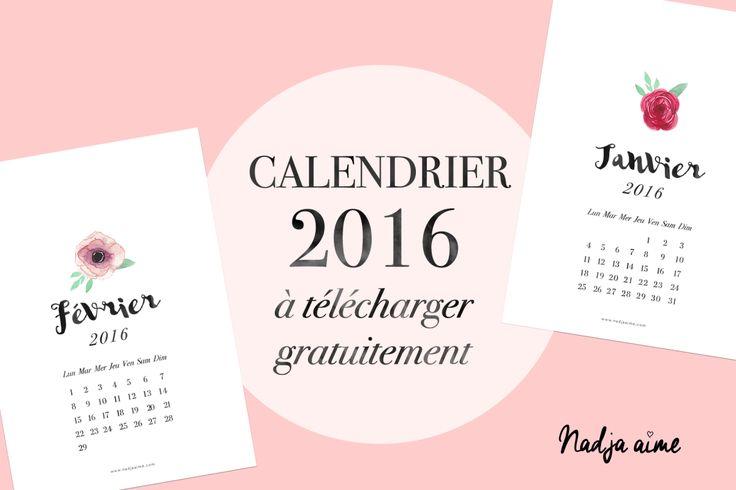 L'année 2016 arrive et j'ai réalisé un calendrier 2016 à imprimer gratuitement. Une page par mois, à encadrer ou épingler sur un tableau de liège par exemple. J'ai choisi un style…
