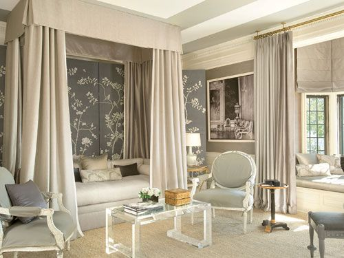 Mary McDonald.: Guestroom, Living Rooms, Decor Ideas, Mary Mcdonald'S, Master Bedrooms, Memorial Tables, Canopies Beds, Guest Rooms, Beautiful Bedrooms