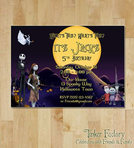 28 best The Nightmare Before Christmas Invitation images on ...