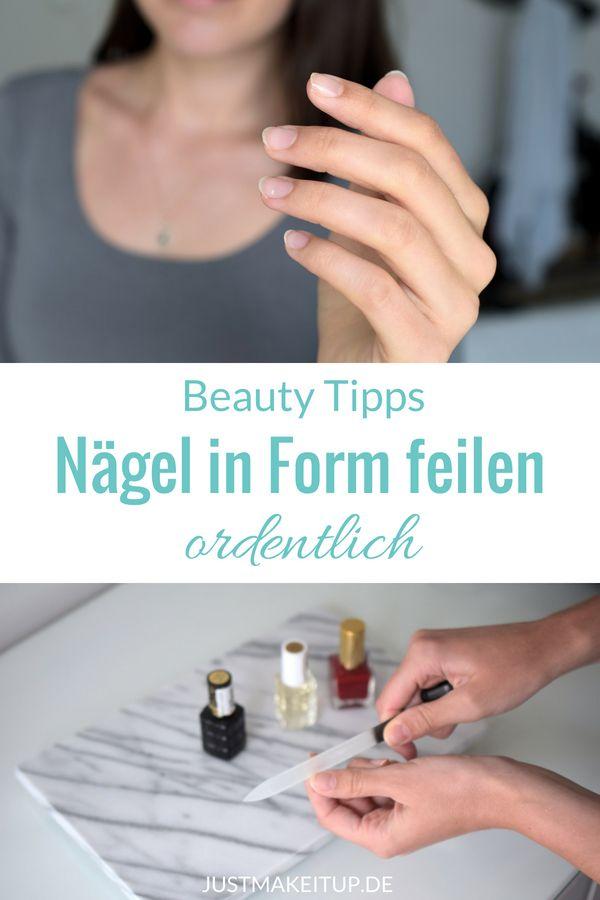 Fingernägel ordentlich feilen ______ Nägel, Naildesign, Nageldesign, Maniküre…